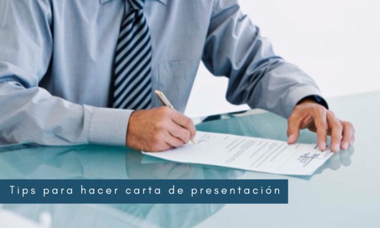 Tips para hacer carta de presentación
